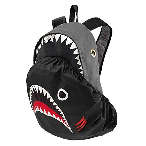 Morn Creations Shark Style Fashion Notebook Rucksack für Computer mit Regen Cover Rucksack Brown/Peacock Blue (330) Grey (800) P1M3X