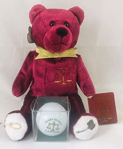 Westman Works Lawyer Gift Set with Plush Teddy Bear and Boxed Golf Ball ()