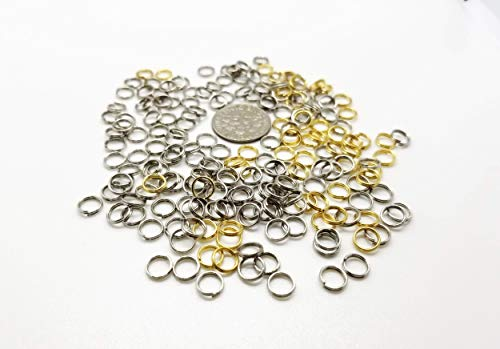 Crafting Jewelry Making Silver Gold Mini Split Rings Assortment Of 200