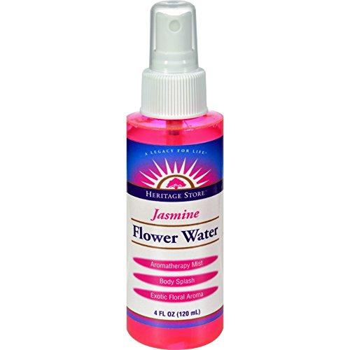 - HERITAGE PRODUCTS Flower Water Jasmine w/Atomizer 4 OZ