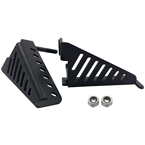 iFJF Foot Pegs Solid Oxidized Iron-Black Powder Coated Exterior Door Hinge Front Foot Peg Rest Pedal for 2007-2018 Jeep Wrangler Jk 2DR JKU 4DR(1pair)