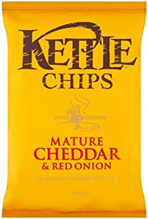 product image for Kettle Chips Mature Cheddar and Red Onion Crisps 150 g (Pack of 6)