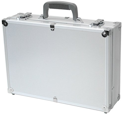 T.Z. Case 17'' Hard-Sided Laptop Case, Aluminum Briefcase, Attache Case in Silver by TZ Case