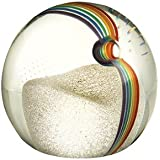 Caithness Glass Piece Crystal Chasing Rainbows Wonderful World Paperweight, Multi-Coloured