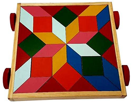 Carrito Didactico de Madera Armable Figuras Geometricas