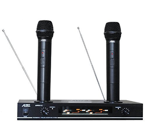 Audio 2000s 6112VR Dual Rechargeable VHF Wireless Microphone System
