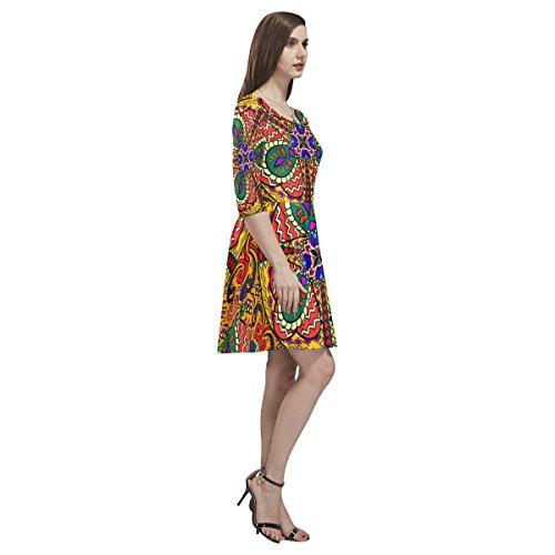Dress Floral Story Sleeve Half Mandala Tethys Womens Dress Skater Paisley D wvXqpSX