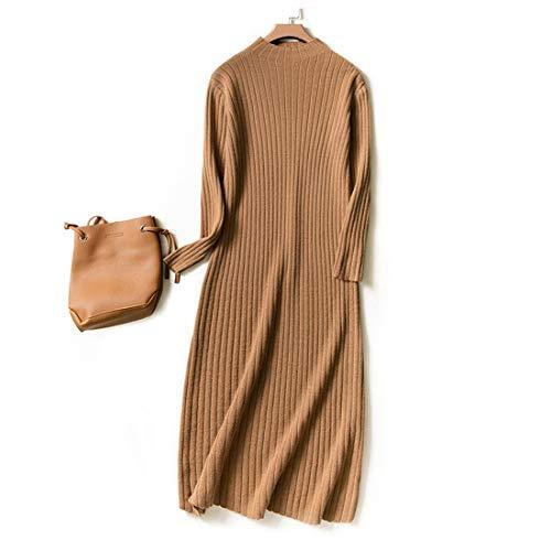 Manica Da Uzanesx Con Coffee Lungo Lunga Maglia Di In Coffee Maglioncino Collo A Cashmere Donna E Xl color Size BqqrYw5x