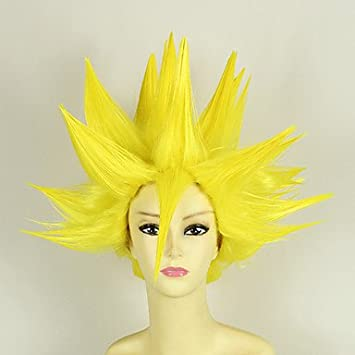 Pelucas de Cosplay - Dragon Ball - de Vegeta - Amarillo - 35 -