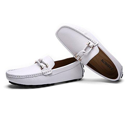 Hombre Cuerda Blanda Sry Entretejida De shoes Con Goma Blanco Decoración Para Casuales Clásicos Mocasines Conducción Suela q7vYwA7Tax