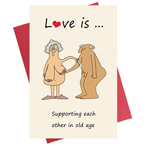 50th Anniversary Cards (Funny Anniversary Card, Birthday Card for Boyfriend Girlfriend Wife)