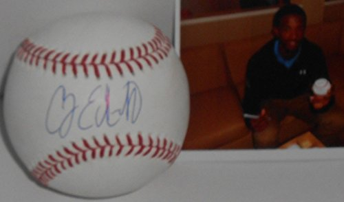 Carl Edwards Jr Chicago Cubs Autographed Signed Baseball w/pic A CJ