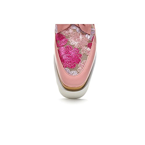 Zeppa KJJDE Sandali Spessa Piattaforma Rete L0605 Ricamo Pink Donna Donna Creativo In Traspirante WSXY Suola Estivi A Tacco 6vdwq6