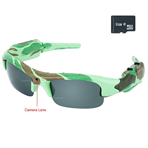 Toughsty™ 8GB 1920×1080P HD Hidden Camera Hunting Sunglasses Camouflage Eyewear DV Camcorder with Video Audio Recording Photo Taking Function