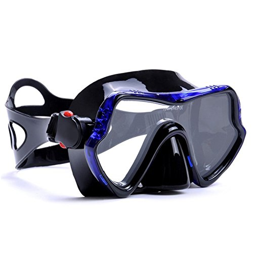 To Max Scuba Diving Mask - Professional Snorkeling Gear Mask - Ultra Clear Lens With Wide View Tempered Glass Goggles,Scuba Diving Equipment Mask,Anti-leakage Silicone Swimming Goggles Mask for Adults (Scuba Mask Large Nose)