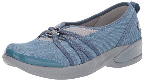 BZees Women's Niche Sneaker Washed Denim Fabric 10 W US