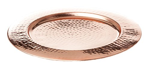 Abigails Shiny Hammered Copper Plate (Set of 4), 12