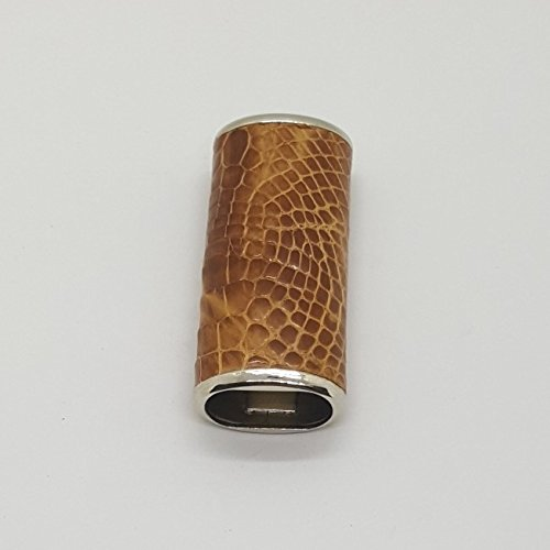 Case Lighter Crocodile Leather Natural Ver.4 Collectible Cigarette Accessories