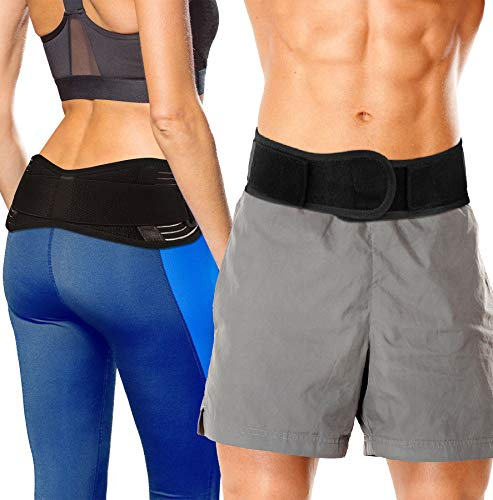 SI Belt Sacroiliac Joint Brace - SI Joint Belt for Sciatica Nerve Pain Relief. Lower Back Support Hip Brace for Pelvis Stability. Low Back Belt for Lower Back Pain Relief for Men & Women (Small)