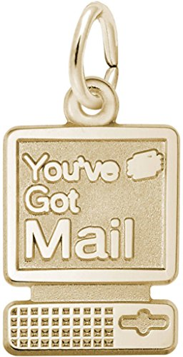 Rembrandt Youve Got Mail Computer Charm - Metal - Gold-Plated Sterling Silver