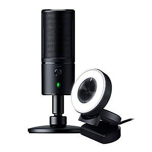 Razer Seiren X USB Streaming Microphone and Razer Kiyo Streaming Webcam