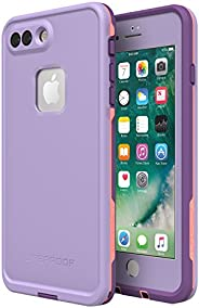 Lifeproof FRē Series Waterproof Case for Iphone 8 Plus & 7 Plus  - Retail Packaging - Chakra (Rose/Fusion
