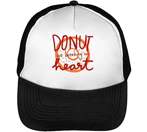 Do Nut Go Breaking My Heart Graphic Gorras Hombre Snapback Beisbol Negro Blanco