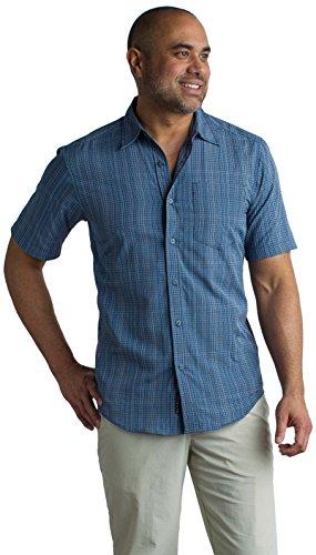 Price comparison product image ExOfficio Men's Salida Ombre Plaid Short-Sleeve Shirt,  Indigowash,  X-Large