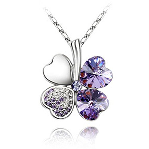 LuxuryLady The New Sexy Clover Pendant Simple Fashion Austrial Crystal Female Necklace(C2)