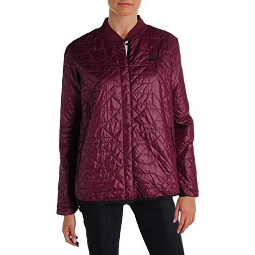 Nike Womens Fall Warm Quilted Coat Purple S