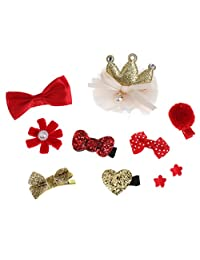 Dovewill 10 Pieces Lovely Kids Girl Baby Cute Hair Clip Bow Tie Hairpin Hair Accessories