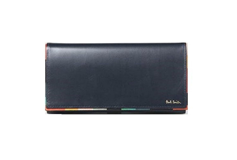 ポールスミス Paul Smith メンズ 財布 長財布 アーティスト ストライプ ポップ かぶせ 長財布 ネイビー B0755SKWR3