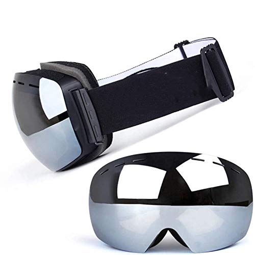 5052e219ab08 Breay1986 Ski Snowboard Snow Goggles Magnet Dual Layers Lens Spherical  Design Anti-Fog UV Protection
