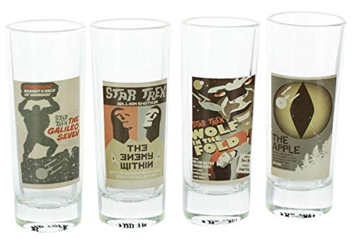 Star Trek The Original Series Fine Art Shot Glasses Set 18