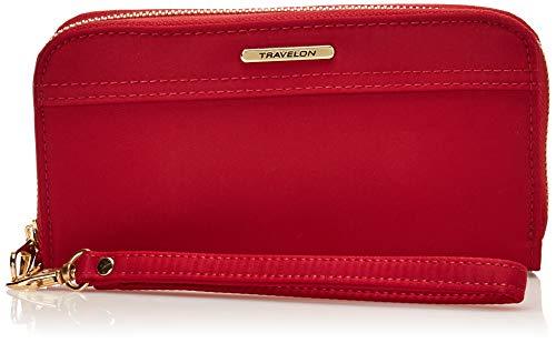 Travelon Women's Tailored Clutch Wallet, Garnet