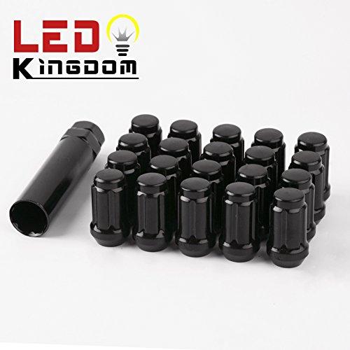 LEDKINGDOMUS 20Pcs Balck ( 12mmx1.5 ) Spline Tuner Drive Wheel Lug Nuts (Xb Bb)