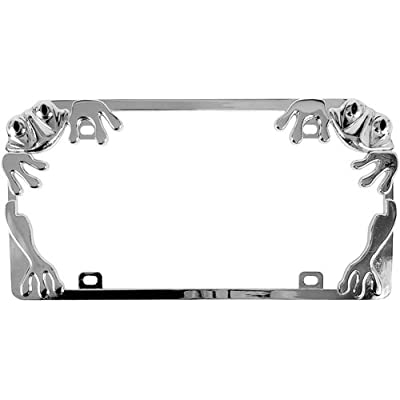 Custom Accessories 92760 Chrome Frog License Plate Frame: Automotive