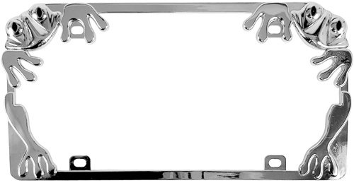 Custom Accessories 92760 Chrome Frog License Plate (Frog License Plate Frame)