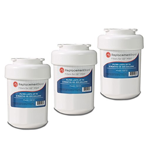 GE MWF SmartWater Comparable Refrigerator Water Filter by ReplacementBrand