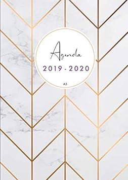 Agenda 2019-2020 a5: Organiza tu día - Agenda semanal - julio 2019 a diciembre 2020 - español - diseño de mármol