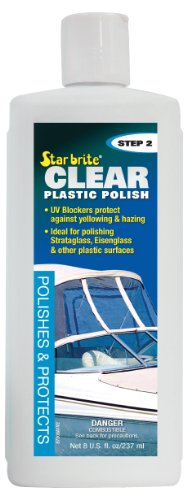 Star brite Clear Plastic Polish & Protectant - Step - Scratched Plastic Polish