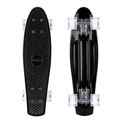 ENKEEO 22 Inch Cruiser Skateboard Plastic Banana Board with...
