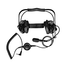 Maxtop AHDH0032-BK-M2 Two Way Radio Noise Cancelling Headset for Motorola Talkabout T480 T400 T200