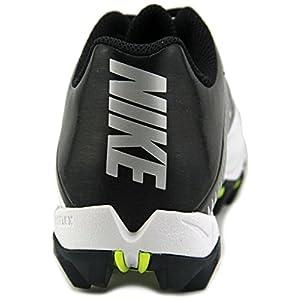 Nike Kids' Vapor Shark 2 Football Cleats (5 M US Big Kid, White/Black-metallic Silver)
