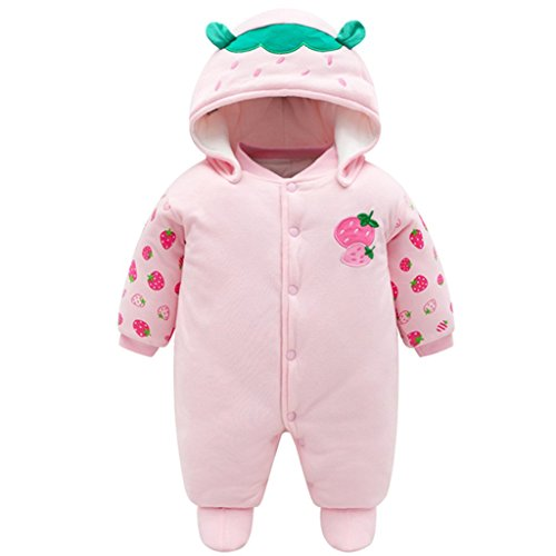0-3 Months Newborn Baby Rompers Booties Hat Boys Girls Jumpsuit Winter Outfits Set