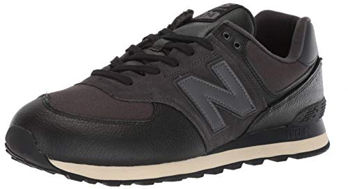 New Balance Men's Iconic 574 Sneaker, Black/Black, 10 D US