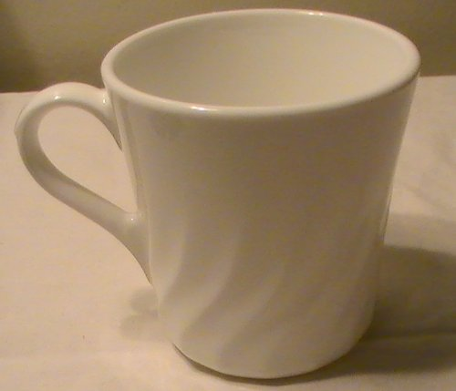 Corning Corelle Enhancement (White Swirl) Mugs - Set of 4