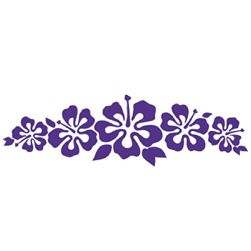 Hibiscus Band Vinyl Sticker Flower