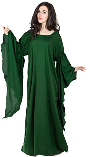 Medieval Renaissance Faire Huntress Lady Archeress Gown Dress (Hunter (Green Medieval Dresses)