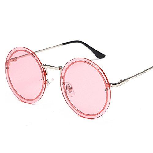 de sol de oceánica película Gafas Plata 6 Gafas de sol sin sol redondas Marco metal de de Shop marco gafas qP8tng7